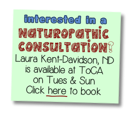 naturopathic consultations with Laura Kent-Davidson
